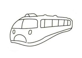 火车简笔画画法步骤(二)