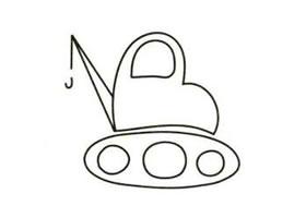 工程车简笔画画法步骤(一)