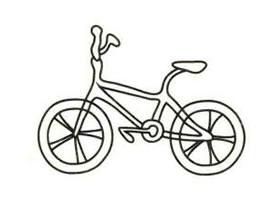 自行车简笔画画法步骤(一)
