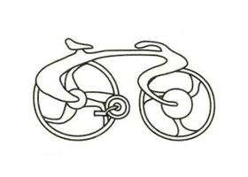 自行车简笔画画法步骤(二)