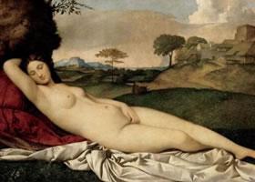 世界名画《熟睡的维纳斯》欣赏