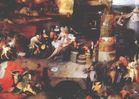 世界名画《圣安秦尼的诱惑》欣赏