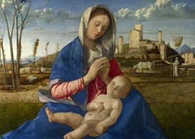世界名画《草地上的圣母》欣赏