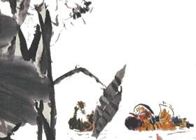 国画荷花与鸳鸯鸾的搭配画法