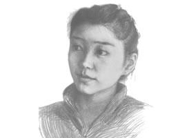 素描肖像画步骤分解一(女子)