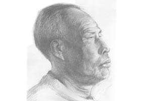 素描肖像画步骤分解二(老年男子)