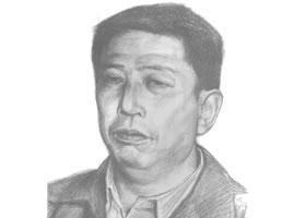 素描肖像画步骤分解三(中年男子)