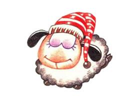 羊的色铅笔简笔画画法步骤