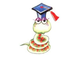 蛇的色铅笔简笔画画法步骤