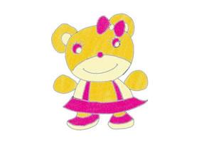 玩具小熊儿童蜡笔画作品欣赏