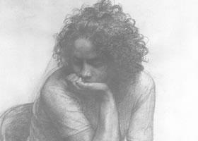 中年女子素描肖像画作品(三)