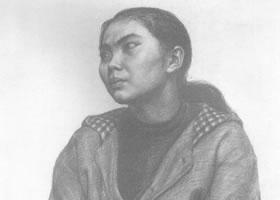 中年女子素描肖像画作品(四)