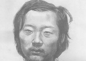 中年男子素描肖像画作品(一)
