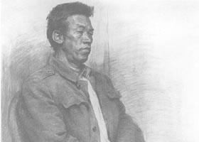 中年男子素描肖像画作品(五)