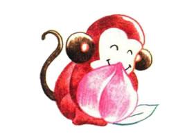 猴子色铅笔简笔画画法步骤