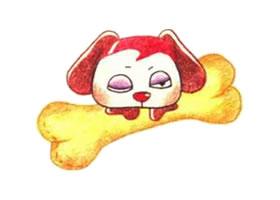狗狗的色铅笔简笔画画法步骤