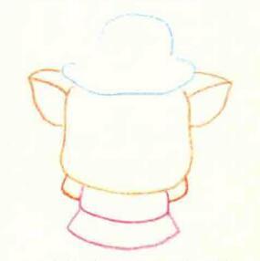 小猪的色铅笔简笔画画法步骤01