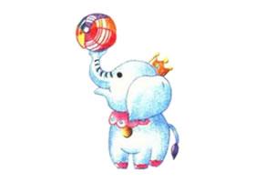 大象的色铅笔简笔画画法步骤