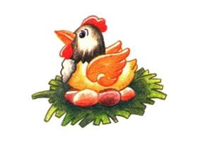 鸡的色铅笔简笔画画法步骤