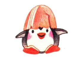 企鹅色铅笔简笔画画法步骤