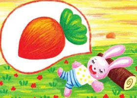 小兔子儿童蜡笔画画法