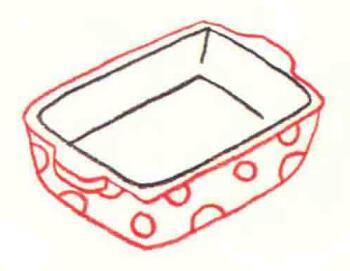 盘子色铅笔简笔画画法步骤03