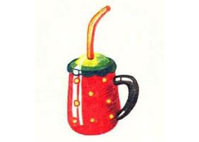 吸管杯色铅笔简笔画画法步骤