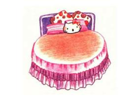 床的色铅笔简笔画画法步骤