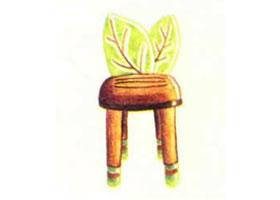 儿童座椅的色铅笔简笔画画法步骤