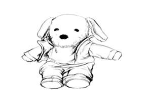 玩具狗的画法步骤