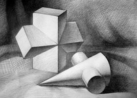 立方相关体、圆锥相关体组合的画法