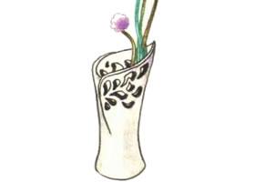花瓶色铅笔简笔画画法步骤