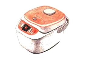 电饭煲(电饭锅)色铅笔简笔画画法步骤
