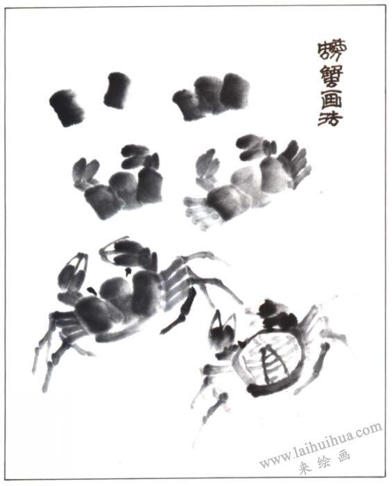 螃蟹的画法(写意花鸟画入门