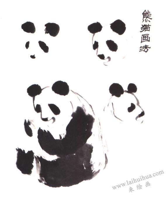 熊猫的画法(写意花鸟画入门