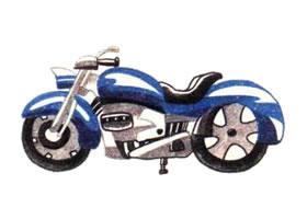 摩托车色铅笔简笔画画法步骤
