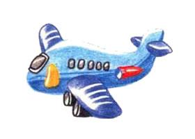 飞机色铅笔简笔画画法步骤
