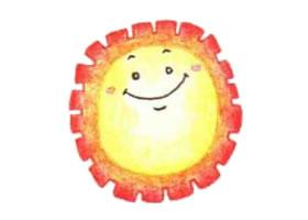 太阳色铅笔简笔画画法步骤