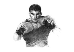 拳击手素描画法步骤