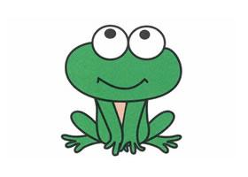 青蛙简笔画作品(三)