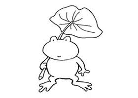 青蛙简笔画作品(四)