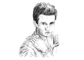 扮酷的男青年素描画法步骤