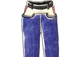 男童裤子色铅笔简笔画画法步骤