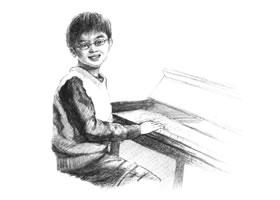 钢琴少年素描画法步骤