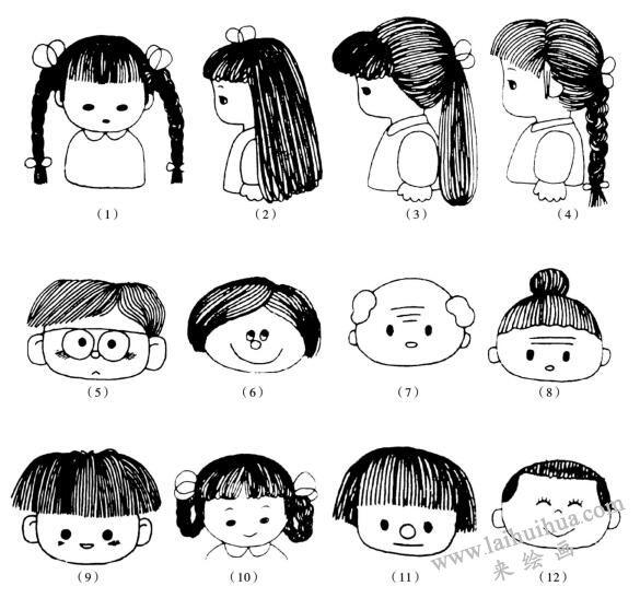 人物画法之形态的夸张表现:头发01