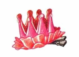 皇冠头花色铅笔简笔画画法步骤
