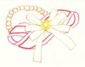 头花的色铅笔简笔画画法步骤02