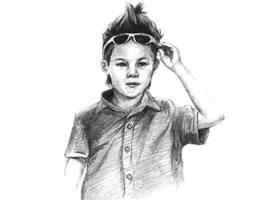 帅气的少年素描画法步骤