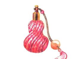 香水瓶色铅笔简笔画画法步骤