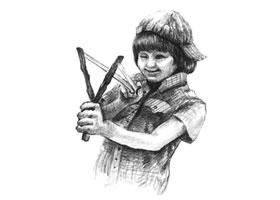 调皮的男孩素描画法步骤